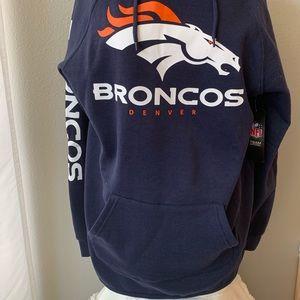 NFL Shirts - NFL Broncos Navy Blue Hoodie